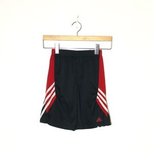 ADIDAS Boy's Red and Black Shorts Size 7